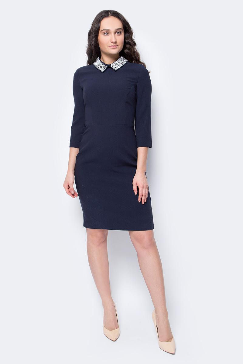 Платье Lusio, цвет: темно-синий. AW18-020184. Размер XS (40/42) платье lusio цвет розовый aw18 020184 размер xs 40 42