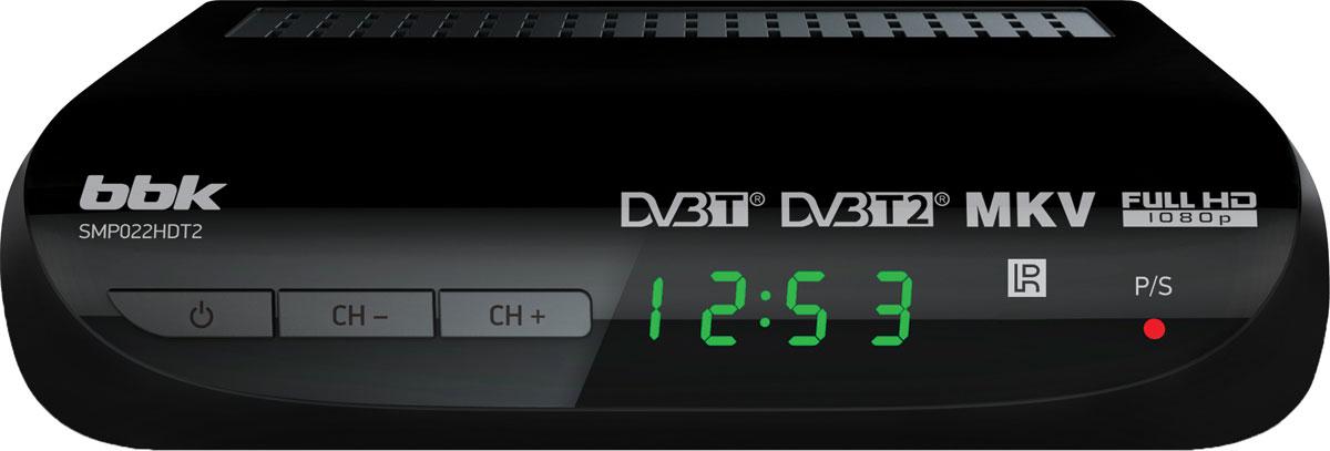 Фото BBK SMP022HDT2, Black цифровой ТВ-ресивер