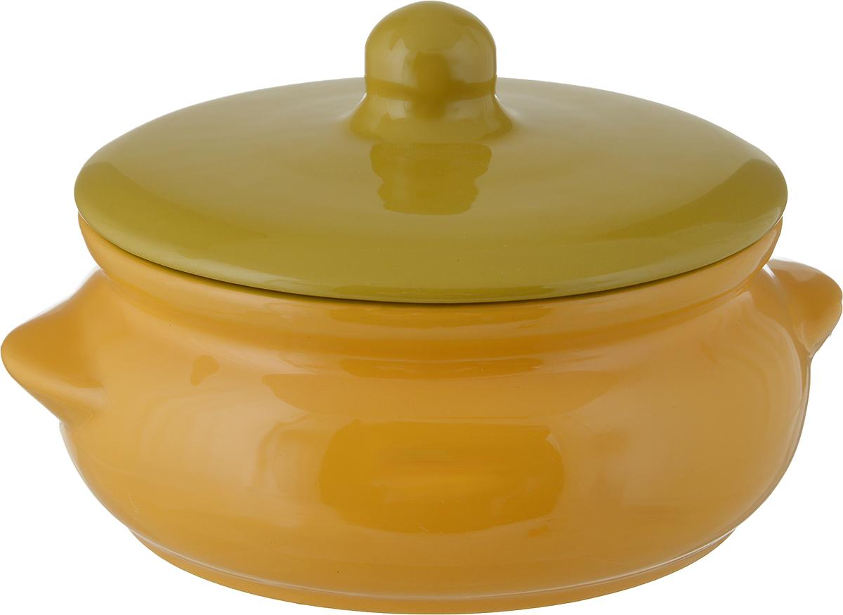 Горшок для запекания Борисовская керамика Радуга, с крышкой, цвет: желтый, горчичный, 700 млРАД00000380_желтый, горчичныйГоршок для запекания Борисовская керамика Радуга с крышкой выполнен извысококачественной керамики. Уникальные свойства красной глины и толстыестенкиизделия обеспечивают эффект русской печи при приготовлении блюд. Блюда,приготовленныев керамическом горшке, получаются нежными и сочными. Вы сможетеприготовить мясо, сделатьтомленые овощи и все это без капли масла. Это один из самых здоровыхспособов готовки. Можно использовать в духовке и микроволновой печи. Диаметр горшка (по верхнему краю): 15 см. Высота стенок: 7 см.Объем: 700 мл.