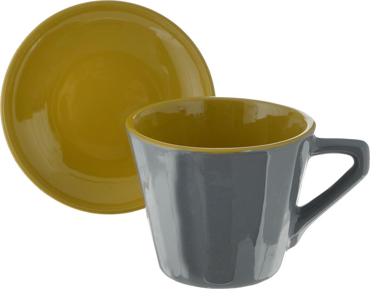 Чайная пара Борисовская керамика Ностальгия, цвет: серый, горчичный, 200 млРАД14458002_серая чашка, горчичныйЧайная пара Борисовская керамика Ностальгия состоит из чашки и блюдца,изготовленных из высококачественной керамики. Такой набор украсит вашкухонный стол,а также станет замечательным подарком к любому празднику.Можно использовать в микроволновой печи и духовке. Диаметр чашки (по верхнему краю): 8 см. Высота чашки: 6,5 см. Диаметр блюдца (по верхнему краю): 10 см. Высота блюдца: 2 см. Объем чашки: 200 мл.
