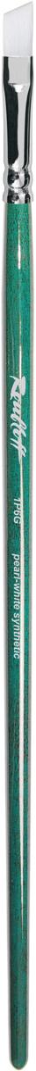 Roubloff Кисть 1Р6G синтетика скошенная № 7 длинная ручкаЖР6-07,0GBКисть скошенная из волоса жемчужной жесткой синтетики на длинной глянцевой зеленой ручке с хромированной обоймой серебряного цвета.