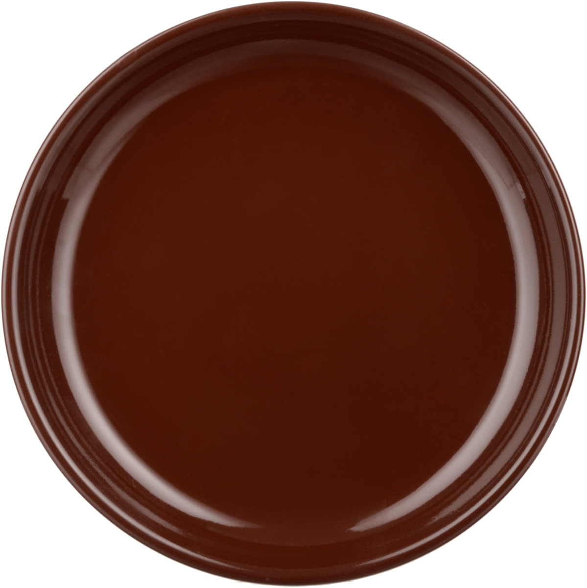 Тарелка Борисовская керамика Cтандарт, цвет: темно-коричневый, диаметр 18 см детская коляска 2 в 1 junama diamond jd 06 бордовый черный короб