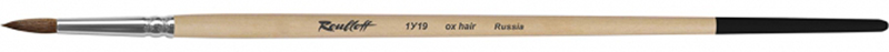 Roubloff Кисть 1У19 круглая № 7ЖУ1-07,09БКисть круглая из ушного коровьего волоса, обойма алюминиевая, ручка длинная, пропитана лаком. Подходят для работы с такими красками, как гуашь, акрил, темпера.