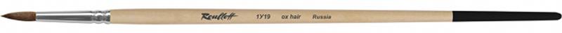 Roubloff Кисть 1У19 круглая № 8ЖУ1-08,09БКисть круглая из ушного коровьего волоса, обойма алюминиевая, ручка длинная, пропитана лаком. Подходят для работы с такими красками, как гуашь, акрил, темпера.