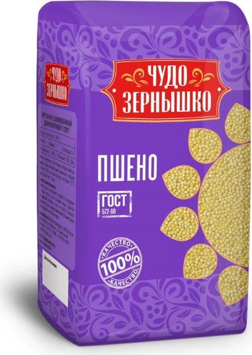 Чудо Зернышко Пшено, 800 г соус gran cucina с оливками таджаске 180 г