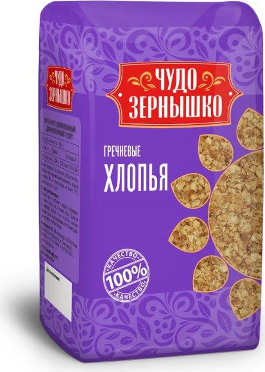 Чудо Зернышко Хлопья гречневые, 400 г чудо зернышко рис длиннозерный 1 сорт 800 г