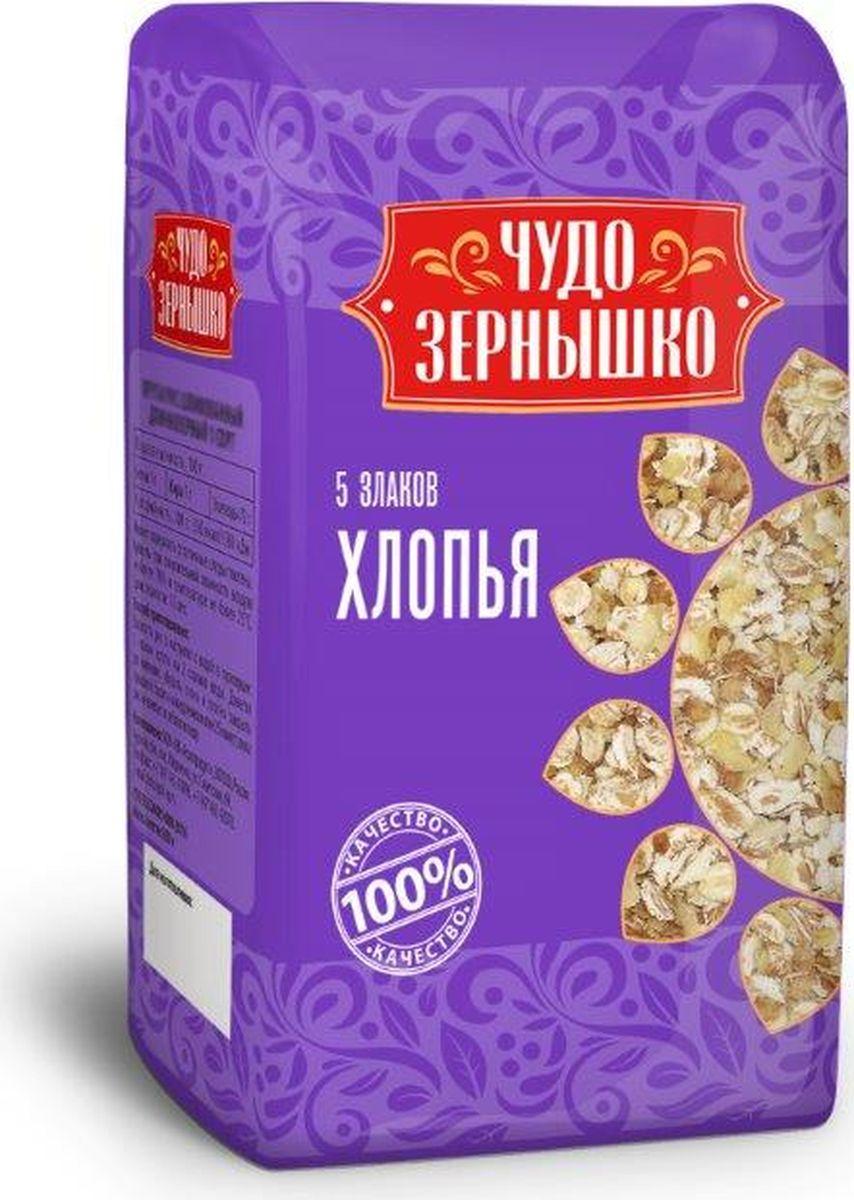 Чудо Зернышко Хлопья 5 злаков, 400 г чудо зернышко рис длиннозерный 1 сорт 800 г