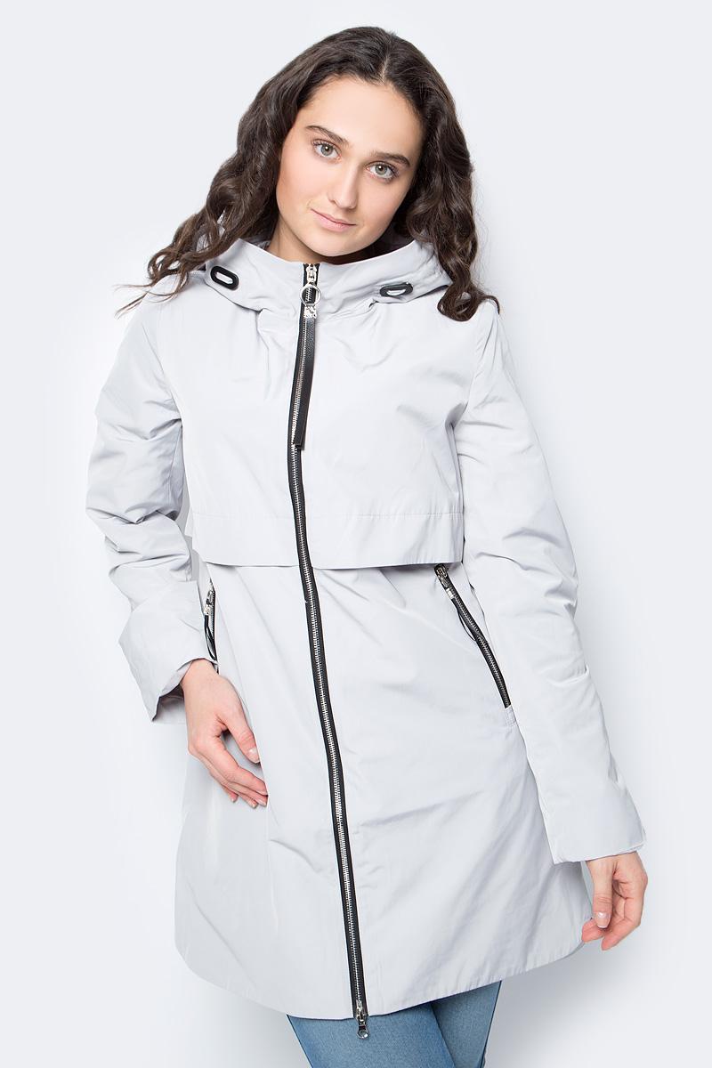 Купить Куртка женская Malinardi, цвет: серый. MR18C-W8590. Размер L (46)
