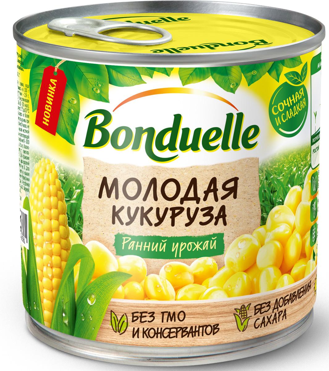 Bonduelle Кукуруза молодая, 170 г3083681083330Высокое качество, изысканный вкус, сочная, натурально сладкая, без добавления сахара. Вкусный и полезный перекус, сочный и хрустящий ингредиент для овощных салатов.