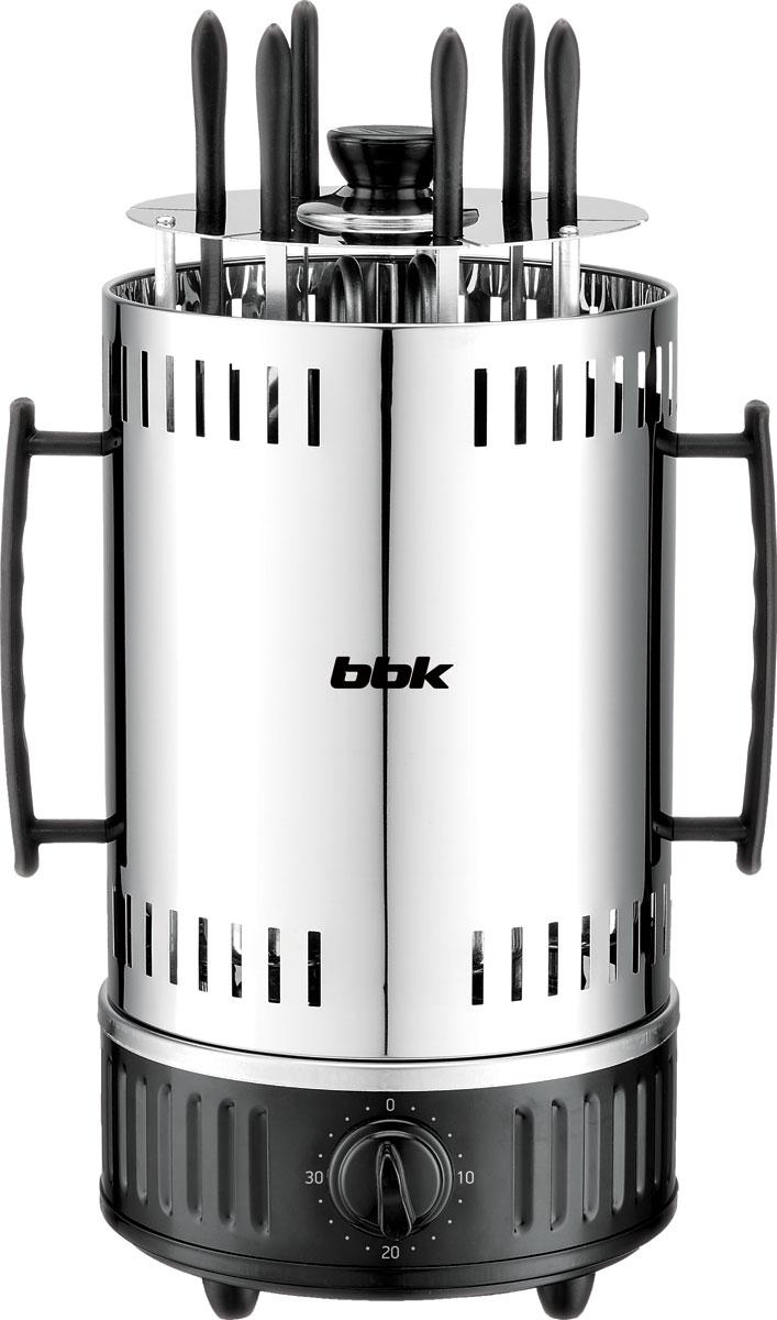 BBK BBQ603T, Black Silver электрическая шашлычница - Электрогрили