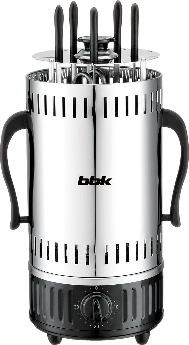 BBK BBQ601T, Black Silver электрическая шашлычница