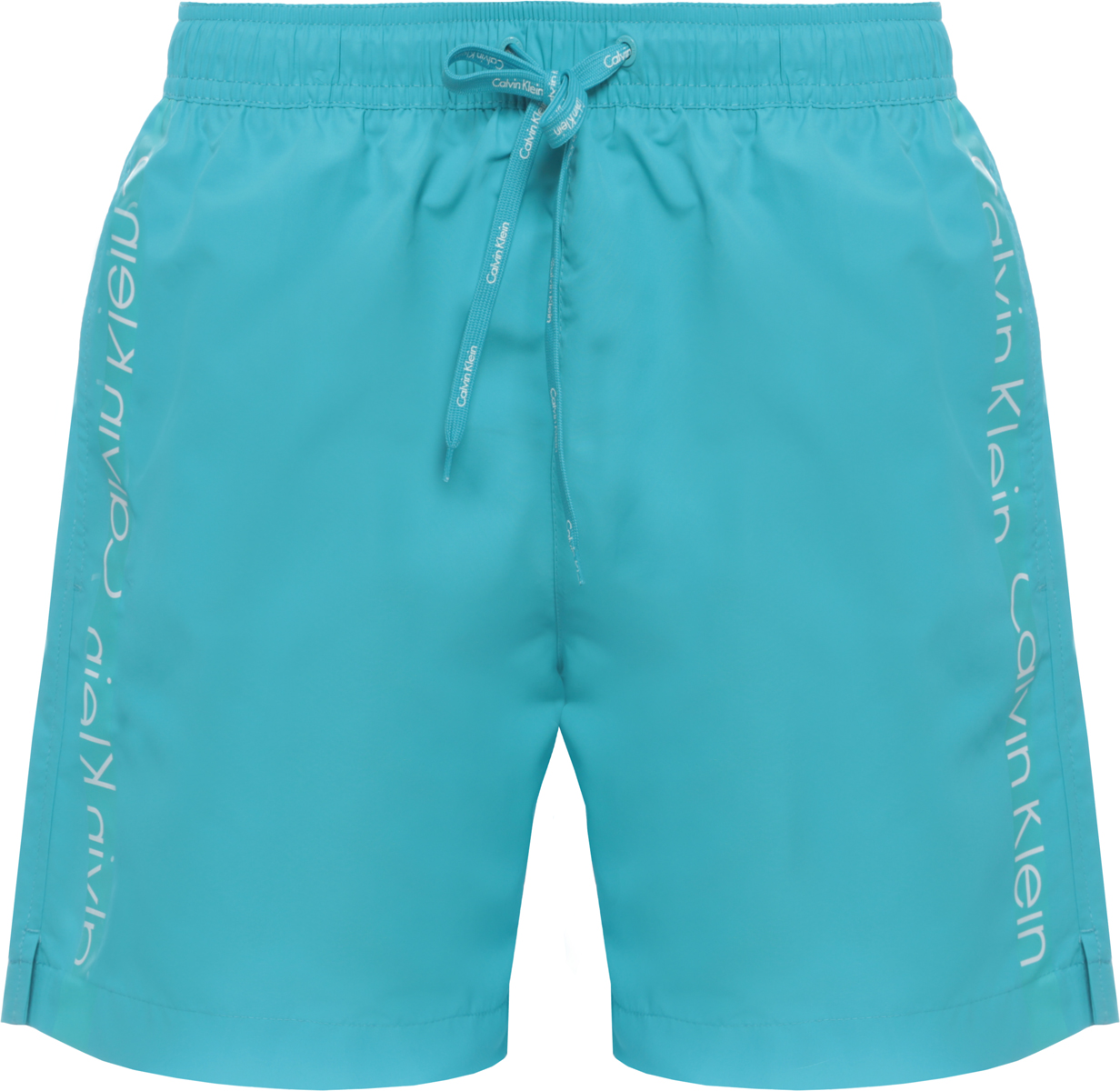Шорты купальные мужские Calvin Klein Underwear, цвет: голубой. KM0KM00169. Размер S (46)KM0KM00169Шорты купальные мужские Calvin Klein Underwear выполнены из полиэстера. Модель дополнена затягивающимся шнурком.