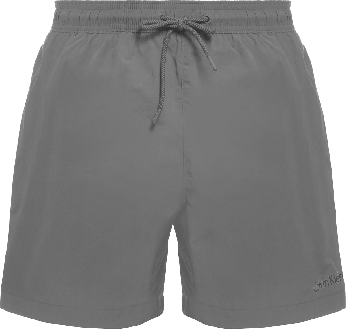 Шорты купальные мужские Calvin Klein Underwear, цвет: серый. KM0KM00163. Размер M (48)KM0KM00163Шорты купальные мужские Calvin Klein Underwear выполнены из полиамида. Модель дополнена затягивающимся шнурком.