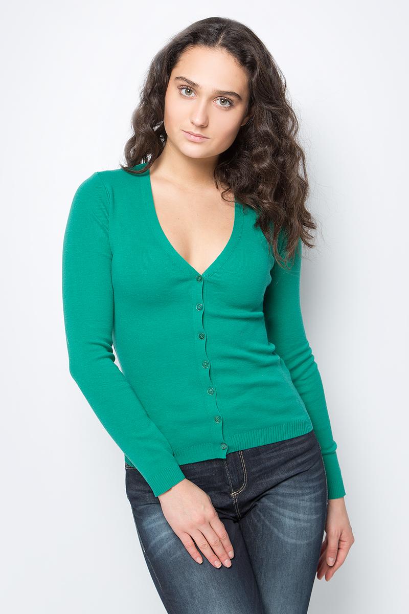 Кардиган женский United Colors of Benetton, цвет: зеленый. 1091D6705_31W. Размер XS (40/42)