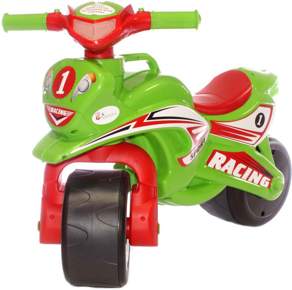 Doloni Байк-каталка музыкальный Sport, цвет зеленый красный doloni байк каталка музыкальный полиция цвет красный желтый