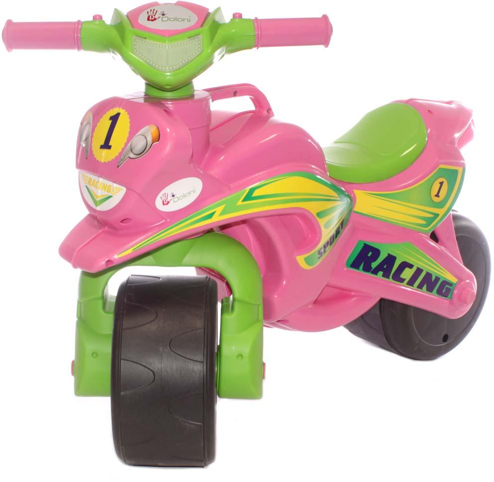 Doloni Байк-каталка Sport, цвет розовый салатовый