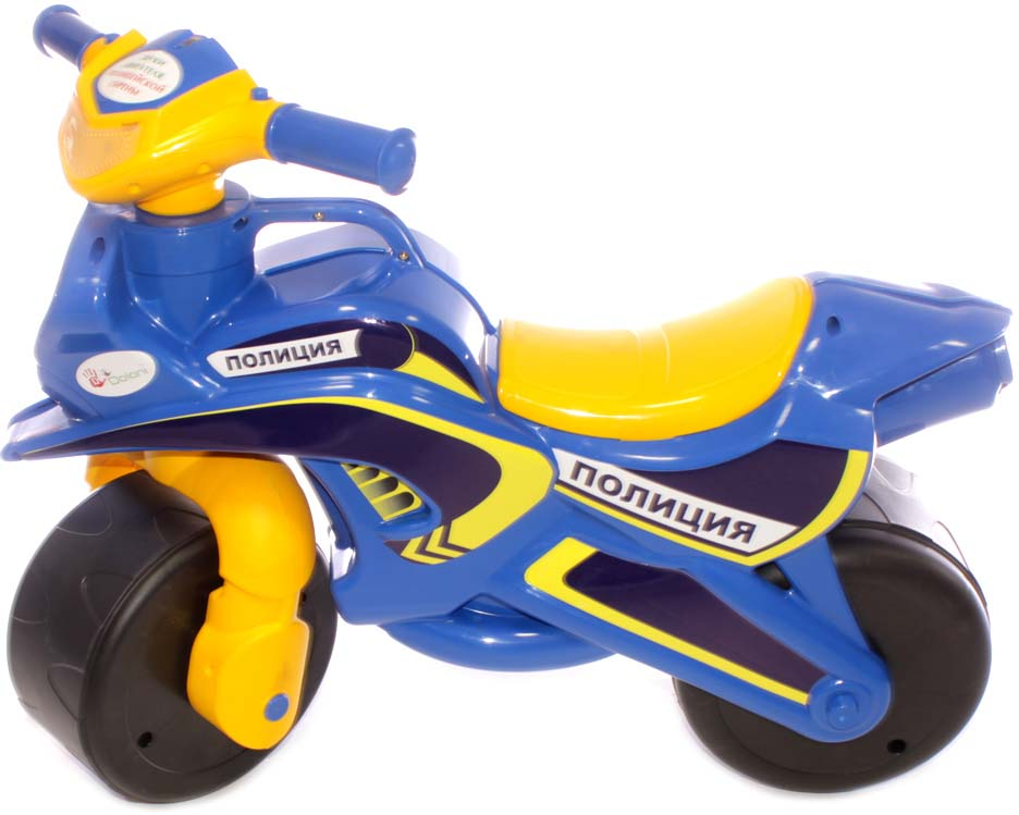 DoloniБайк-каталка музыкальный Полиция, цвет синий желтый Doloni