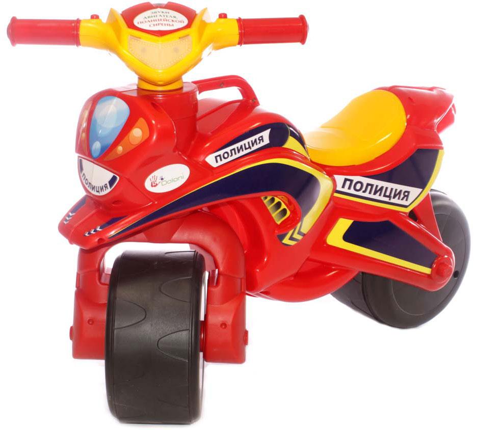 Doloni Байк-каталка музыкальный Полиция, цвет красный желтый doloni байк каталка музыкальный полиция цвет красный желтый
