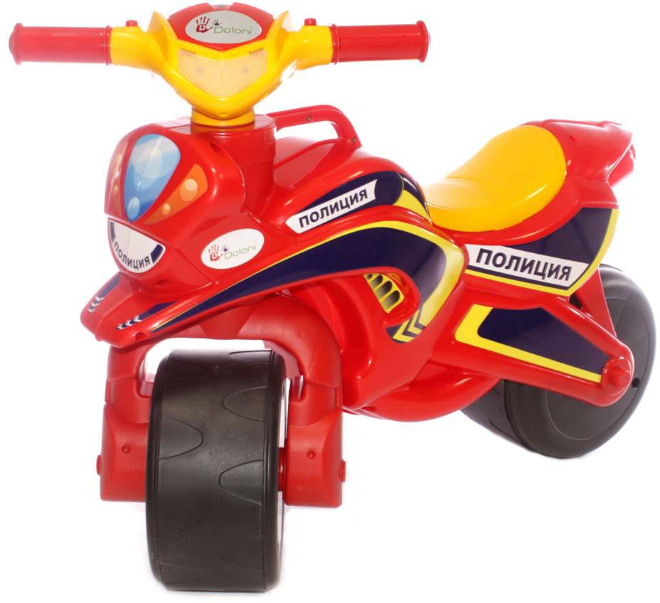 Doloni Байк-каталка Полиция, цвет красный желтый