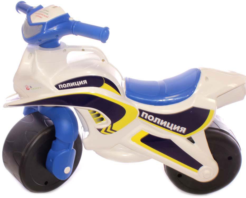 DoloniБайк-каталка музыкальный Полиция, цвет белый синий Doloni