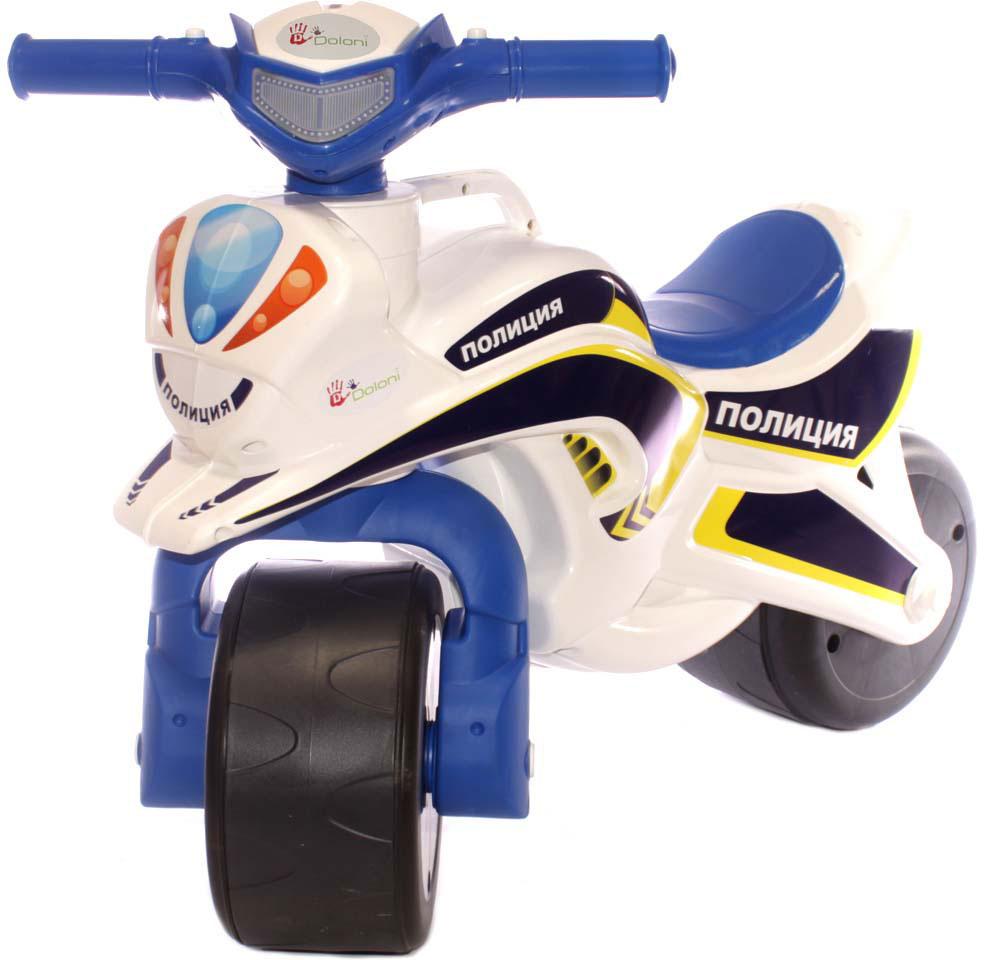 Doloni Байк-каталка Полиция, цвет белый синий лапомойка антицарапки цвет синий размер м