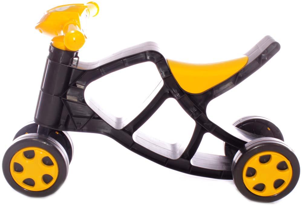 Doloni Минибайк-каталка, цвет черный желтый