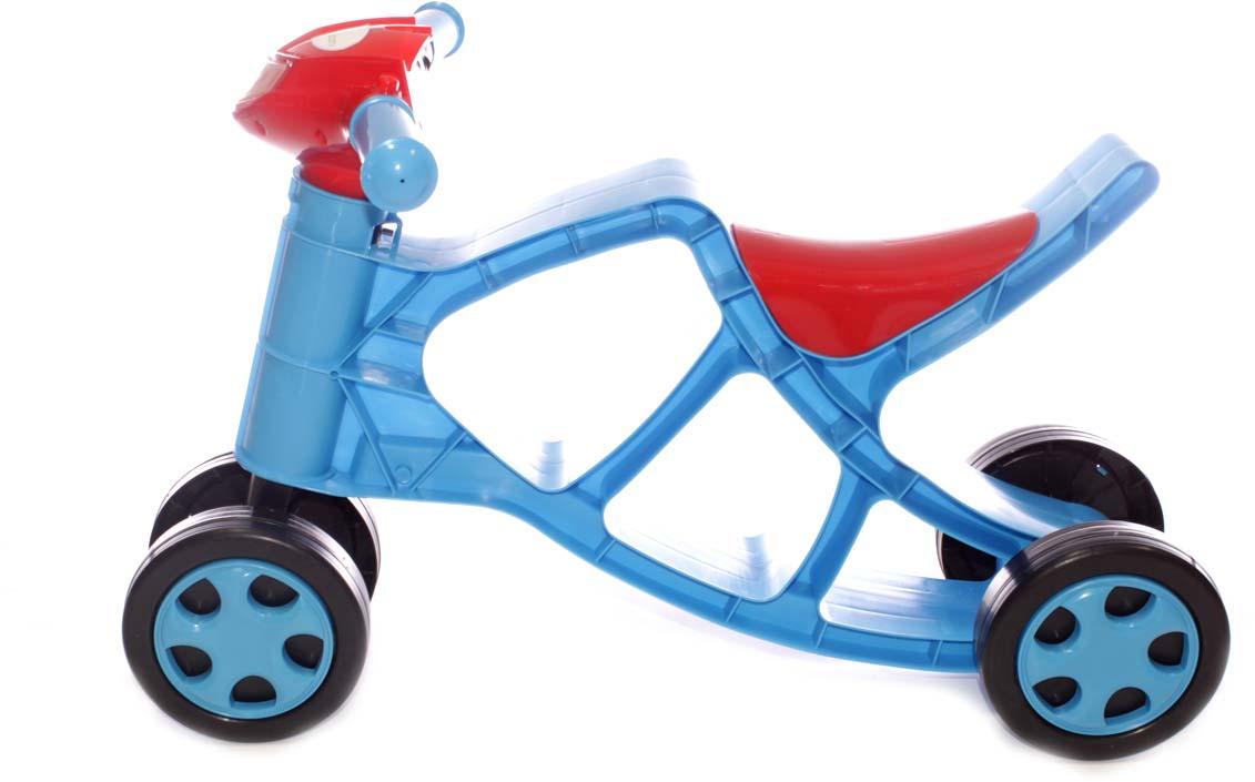 Doloni Минибайк-каталка со звуком, цвет голубой красный