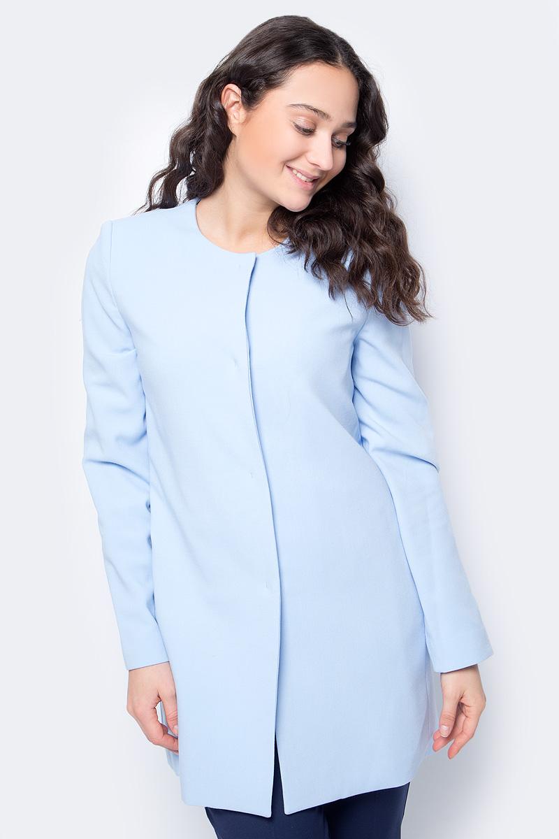 Купить Пальто женское United Colors of Benetton, цвет: голубой. 2XI65K1U4_20B. Размер 42 (44)