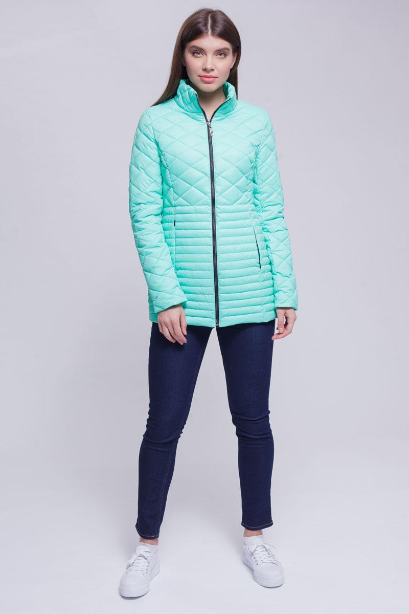 Куртка женская Ampir Style, цвет: ментол. 8918. Размер 468918Качественная и практичная куртка российского производства. Наполнитель - холлофайбер в пух-пакетах. Можно стирать в машинке, наполнитель не убежит. На модели 42 размер куртки, параметры модели 82х64х89, рост 175 см.
