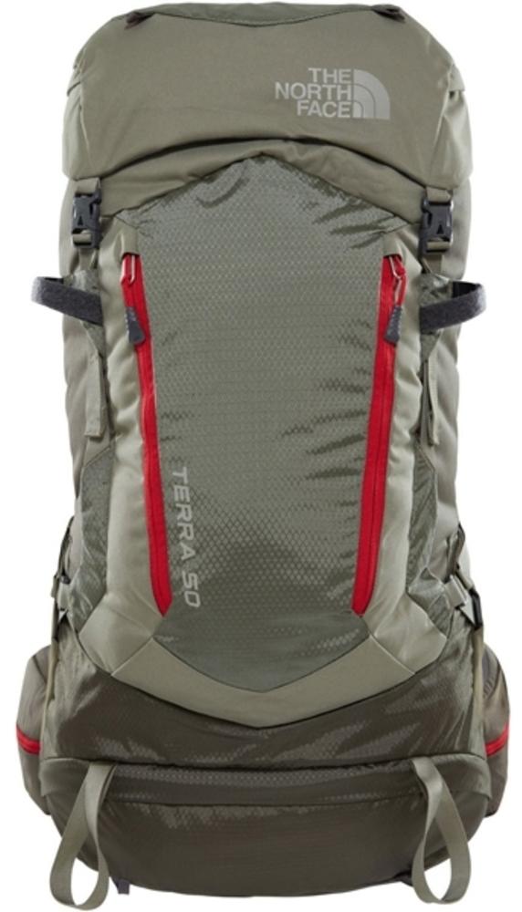 Рюкзак The North Face Terra 50, цвет: хаки. T0A6K01VA. SMT0A6K01VAПоддержка и комфорт в горных походах. Универсальный, функциональный, комфортный рюкзак. Идеально подходит для пеших прогулок,альпинизма и любых других активностей на открытом воздухе. Разработанный с очень удобнойсистемой подвески, благодаря которой вы получаете удобную посадку независимо от того,насколько сложен маршрут. Большое количество доступных карманов дает вам возможностьразложить по ним все необходимое в походе. Вес - 1740 gОбъем - 51 ЛитровТкань - 600D Полиэстер, 420D Нейлон mini рипстоп, 1200D Полиэстер