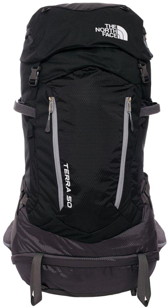 Рюкзак The North Face Terra 50, цвет: черный. T0A6K0KT0. SMT0A6K0KT0Поддержка и комфорт в горных походах. Универсальный, функциональный, комфортный рюкзак. Идеально подходит для пеших прогулок,альпинизма и любых других активностей на открытом воздухе. Разработанный с очень удобнойсистемой подвески, благодаря которой вы получаете удобную посадку независимо от того,насколько сложен маршрут. Большое количество доступных карманов дает вам возможностьразложить по ним все необходимое в походе. Вес - 1740 gОбъем - 51 ЛитровТкань - 600D Полиэстер, 420D Нейлон mini рипстоп, 1200D Полиэстер