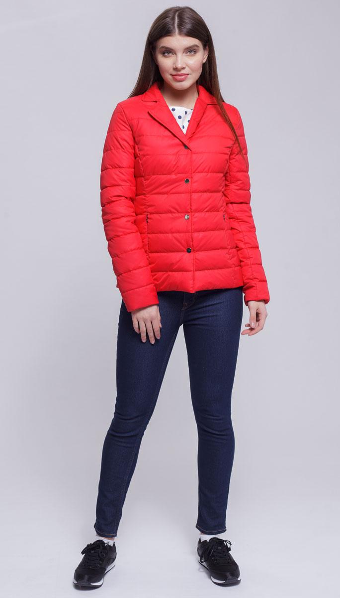 Куртка женская Ampir Style, цвет: коралловый. 8924. Размер 488924Качественная и практичная куртка российского производства. Наполнитель - холлофайбер в пух-пакетах. Можно стирать в машинке, наполнитель не убежит. На модели 42 размер куртки, параметры модели 82х64х89, рост 175 см.