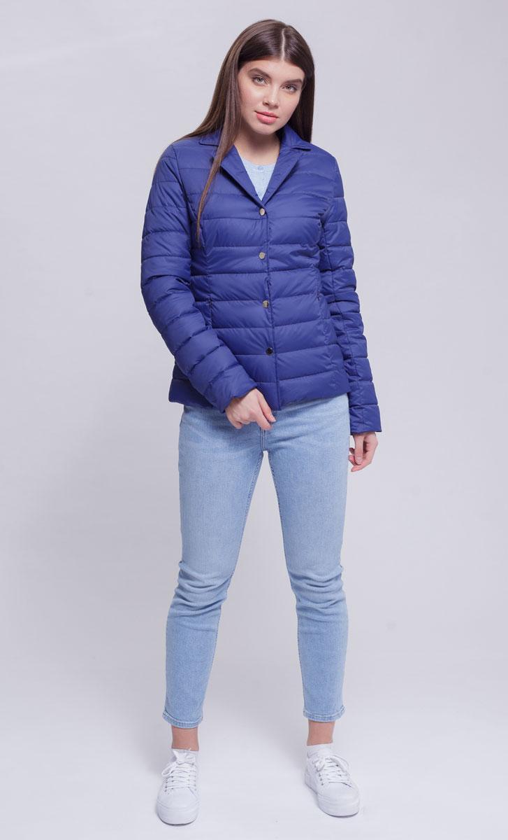 Куртка женская Ampir Style, цвет: темно-синий. 8924. Размер 488924Качественная и практичная куртка российского производства. Наполнитель - холлофайбер в пух-пакетах. Можно стирать в машинке, наполнитель не убежит. На модели 42 размер куртки, параметры модели 82х64х89, рост 175 см.