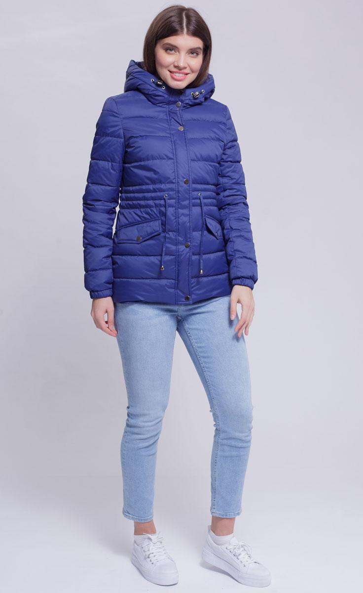 Куртка женская Ampir Style, цвет: темно-синий. 8927. Размер 468927Качественная и практичная куртка российского производства. Наполнитель - холлофайбер в пух-пакетах. Можно стирать в машинке, наполнитель не убежит. На модели 42 размер куртки, параметры модели 82х64х89, рост 175 см.