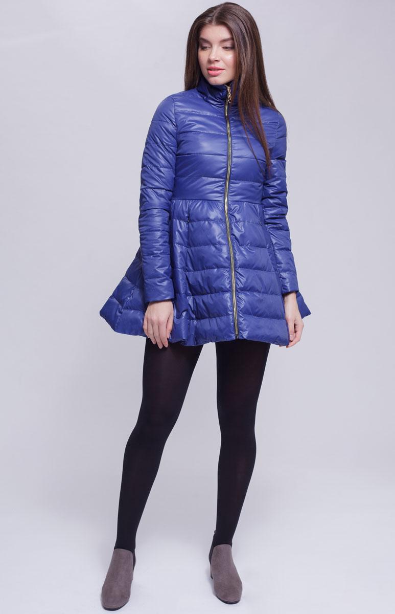 Куртка женская Ampir Style, цвет: темно-синий. 18104. Размер 4818104Качественная и практичная куртка российского производства. Наполнитель - холлофайбер в пух-пакетах. Можно стирать в машинке, наполнитель не убежит. На модели 42 размер куртки, параметры модели 82х64х89, рост 175 см.