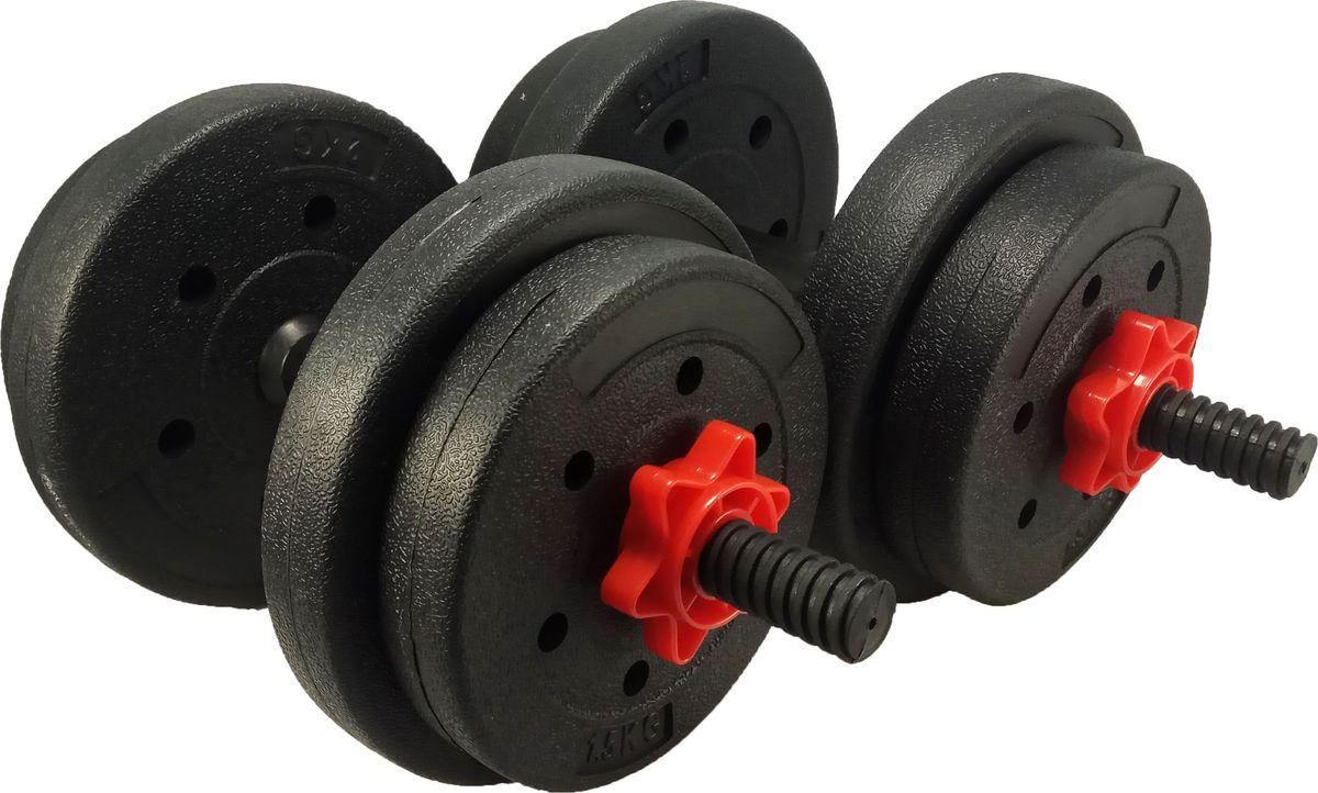 Гантели идеально подходят для домашних тренировок и служат для укрепления мышцы рук, груди и плеч. Внешняя оболочка сделана из прочного ПВХ, наполнитель - композитная смесь цемента и песка. Гантель разборная что позволяет менять вес по своему усмотрению. В комплект входит: 2 грифа, 4 диска по 2,5 кг и 4 диска по 1 кг.