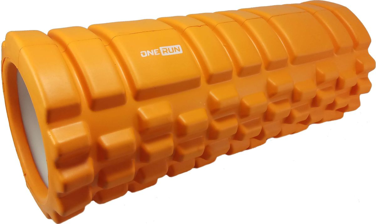 Ролик массажный OneRun, цвет: оранжевый чэн юэ палец нажимной тарелки спортивный инвентарь массажный стол большой размер оранжевый