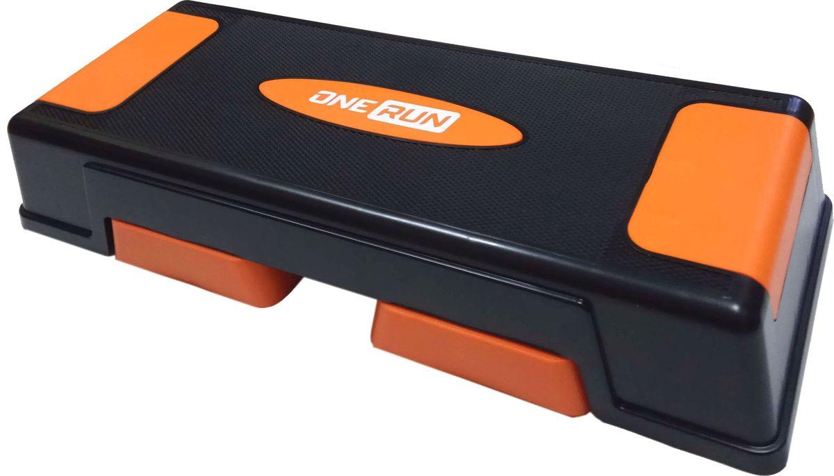 Степ-платформа OneRun, 3-х уровневая, цвет: оранжевый степ платформа aerofit ft stp 560