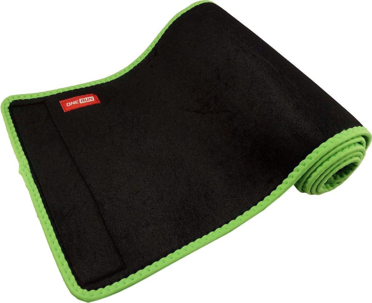 """Пояс для похудения """"OneRun"""", цвет: черный, 110 х 25 см"""