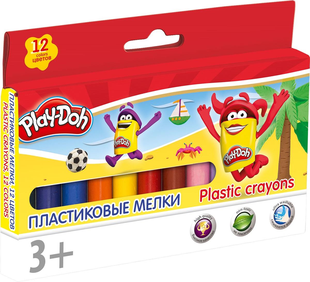 Play-Doh Мелки восковые 12 цветов -  Мелки и пастель