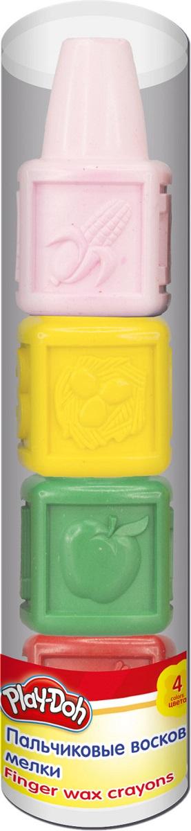 Мелки восковые Play-Doh Пальчиковые, 4 шт