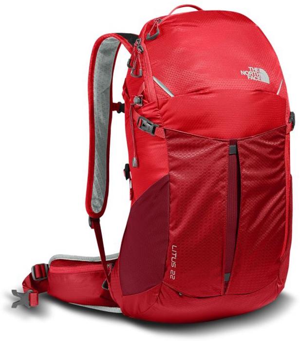 Рюкзак спортивный The North Face Litus 22-RC, цвет: красный. T92ZDY1SWT92ZDY1SW