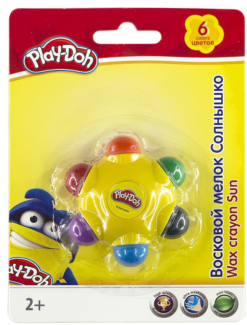 Набор восковых мелков Play-Doh Солнышко, 6 цветов play doh краски гуашевые 6 цветов