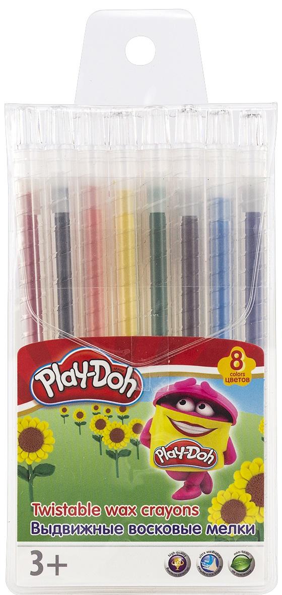 Набор восковых мелков Play-Doh, выдвижные, 8 цветовPDEB-US2-TWCR-8Набор восковых мелков Play-Doh имеет насыщенные и сочные цвета. Набор состоит из 8 выдвижных мелков, 8 разных цветов. Каждый мелок имеет пластиковый держатель и выдвижной механизм. Не токсичны, безопасны.Набор восковых мелков Play-Doh поможет раскрыть художественные способности, развить фантазию, усовершенствовать навыки рисования. Такой мелок отлично подойдет для начинающего художника, все нужные цвета всегда под рукой.ВНИМАНИЕ: не подходит для детей младше 3 лет!