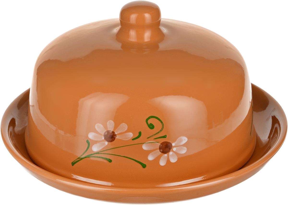 Блинница Борисовская керамика Стандарт, цвет: светло-коричневый, диаметр 27 смОБЧ00000170_светло-коричневый
