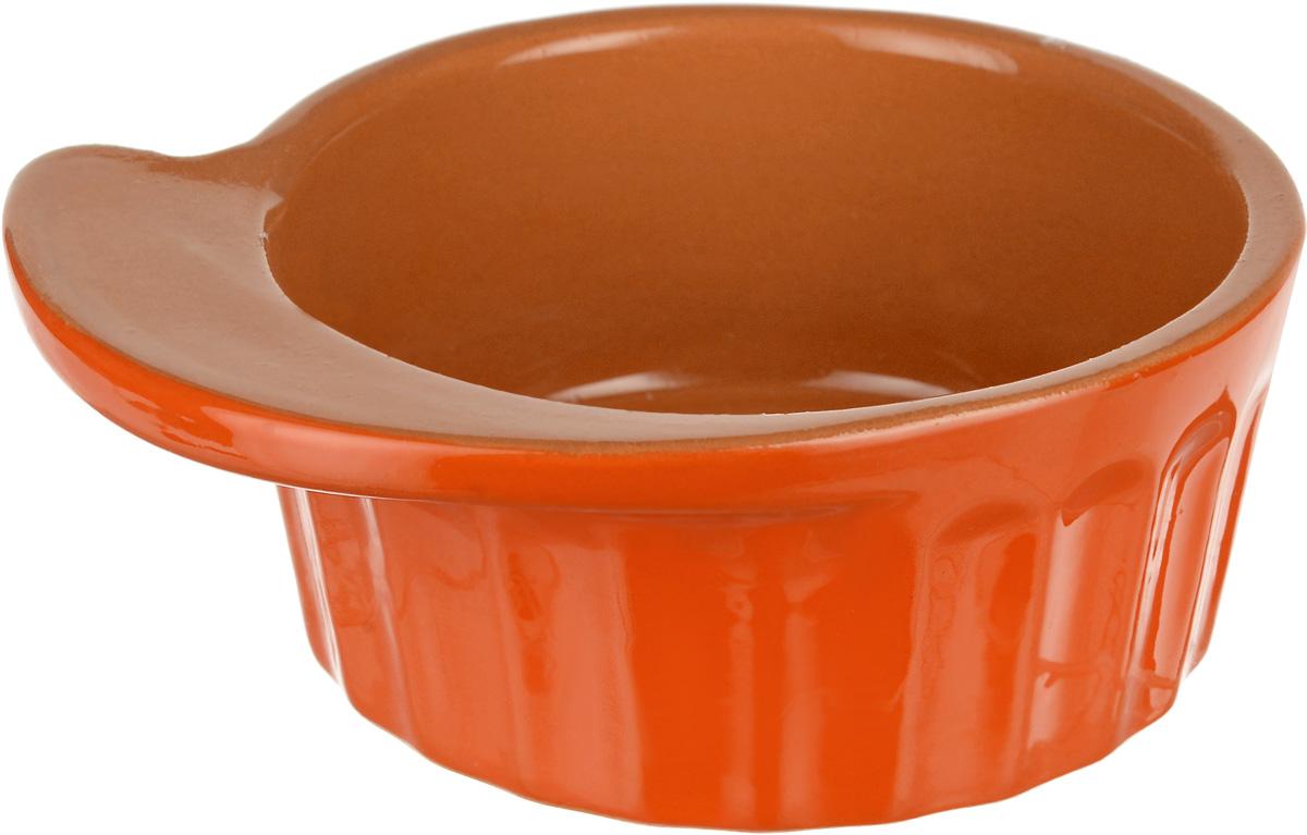 Кокотница Борисовская керамика Ностальгия, цвет: оранжевый, светло-коричневый, 200 мл. РАД14457899