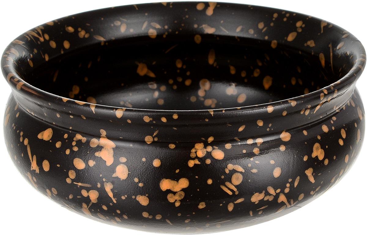 Тарелка глубокая Борисовская керамика Скифская, цвет: черный, желтый, 500 млРАД14458194_черный, желтые точкиГлубокая тарелка Борисовская керамика Стандарт. Скифскаявыполнена из глины. Изделие сочетает в себе изысканныйдизайн с максимальной функциональностью. Она прекрасновпишется в интерьер вашей кухни и станет достойнымдополнением к кухонному инвентарю.Такая тарелка подчеркнет прекрасный вкус хозяйки и станетотличным подарком.Можно использовать в духовке и микроволновой печи.Диаметр тарелки (по верхнему краю): 14 см. Объем: 500 мл.