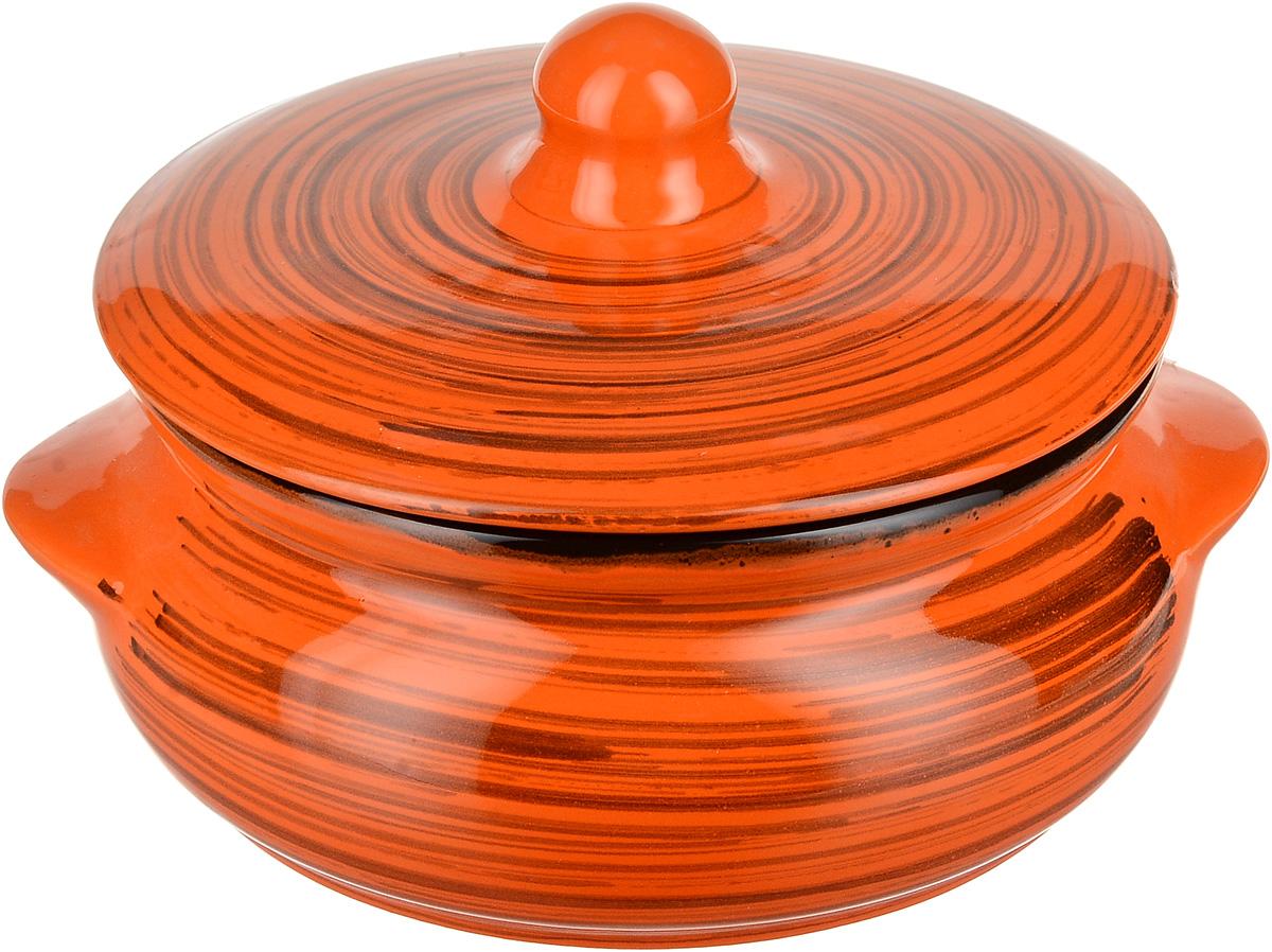 Горшок для запекания Борисовская керамика Радуга, с крышкой, цвет: оранжевый, 700 млРАД00000380_оранжевый, полосыГоршок для запекания Борисовская керамика Радуга с крышкой выполнен извысококачественной керамики. Уникальные свойства красной глины и толстые стенкиизделия обеспечивают эффект русской печи при приготовлении блюд. Блюда, приготовленныев керамическом горшке, получаются нежными и сочными. Вы сможете приготовить мясо, сделатьтомленые овощи и все это без капли масла. Это один из самых здоровых способов готовки. Можно использовать в духовке и микроволновой печи.