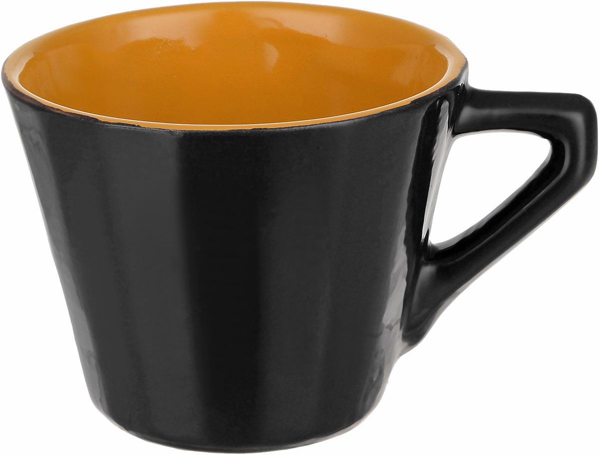 Чашка чайная Борисовская керамика Ностальгия, цвет: темно-коричневый, 200 млРАД14458000_темно-коричневый