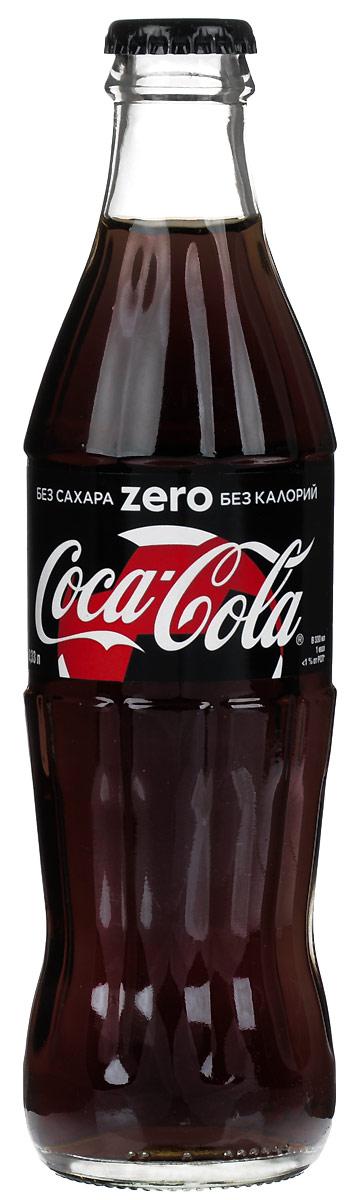Coca-Cola Zero напиток сильногазированный, 0,33 л coca cola напиток газированный 355 мл